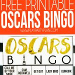 Free Printable 2020 Oscars Bingo Cards   Play Party Plan