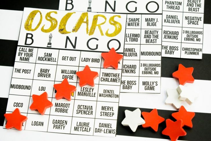 Free Printable Oscar Night Bingo Cards