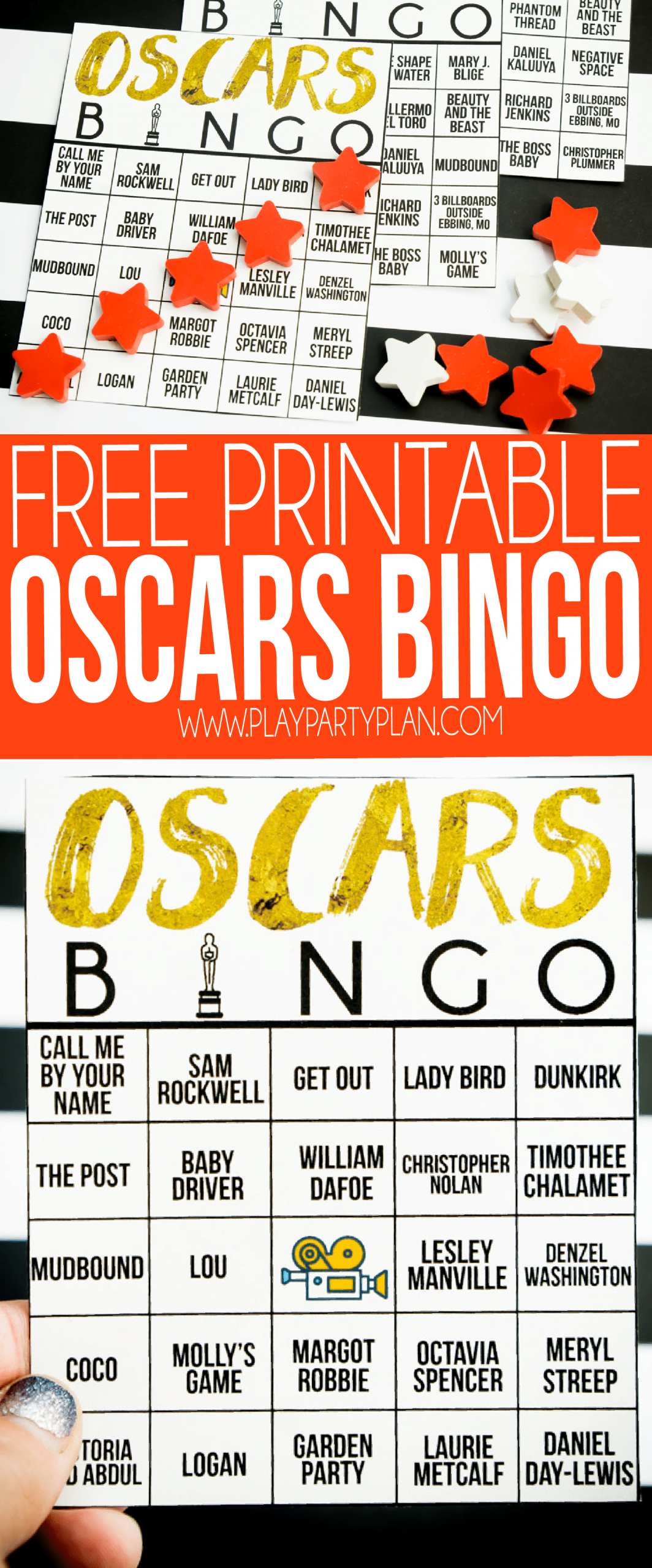 Free Printable 2020 Oscars Bingo Cards - Play Party Plan