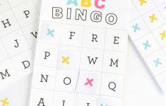 Free Printable Alphabet Bingo – Design Eat Repeat