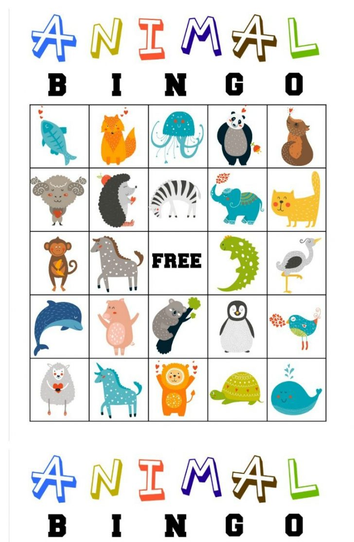Printable Kid Bingo Cards