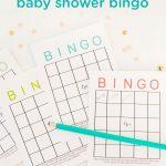 Free Printable Baby Shower Bingo Cards | Baby Shower Bingo