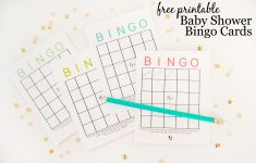 Free Printable Baby Shower Bingo Cards – Project Nursery