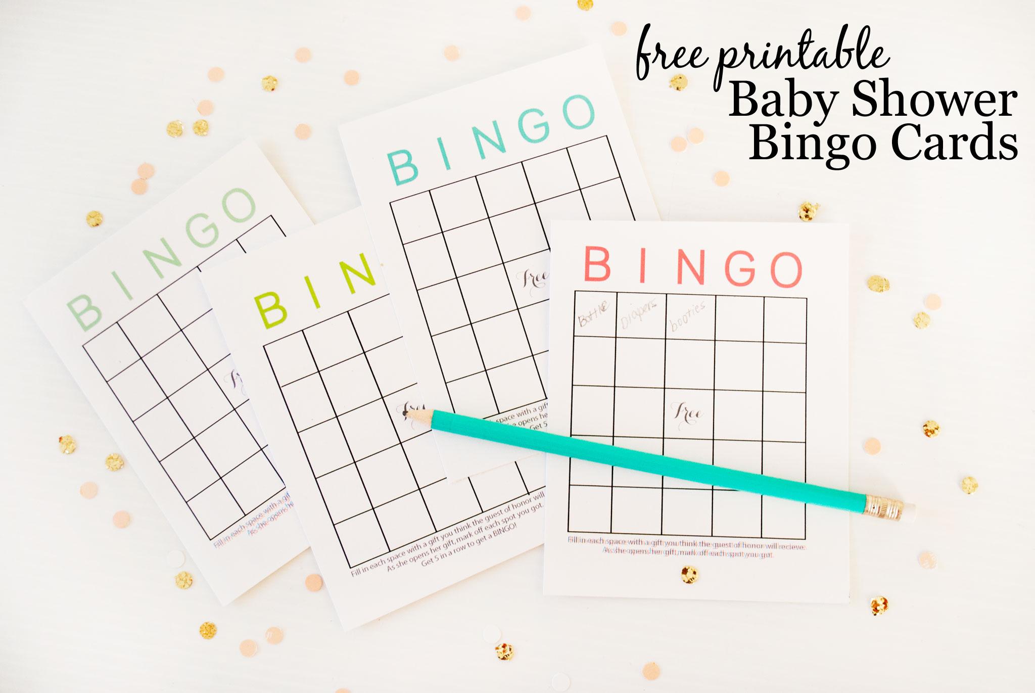 Free Printable Baby Shower Bingo Cards - Project Nursery