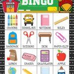Free Printable Back To School Bingo Game Cards | Bingo For
