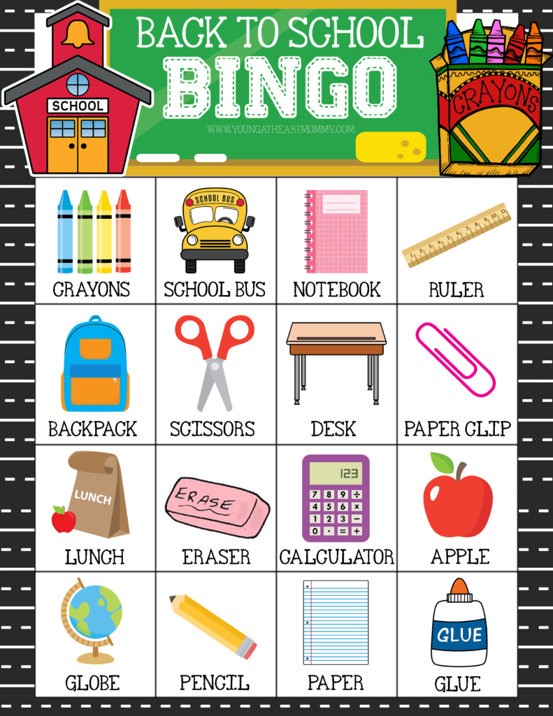 Free Printable Back To School Bingo Game Cards | Bingo For