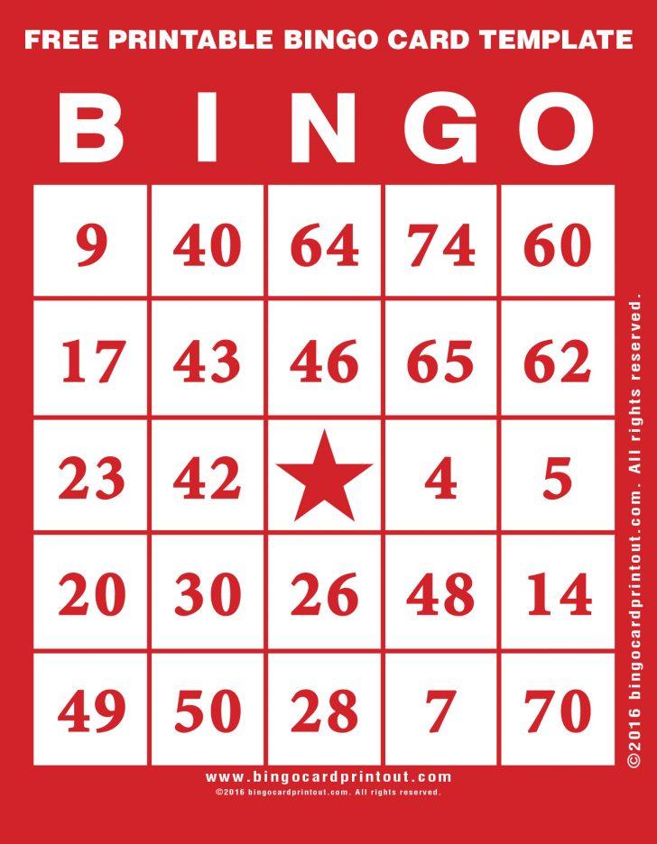 Free Bingo Cards Template Printable