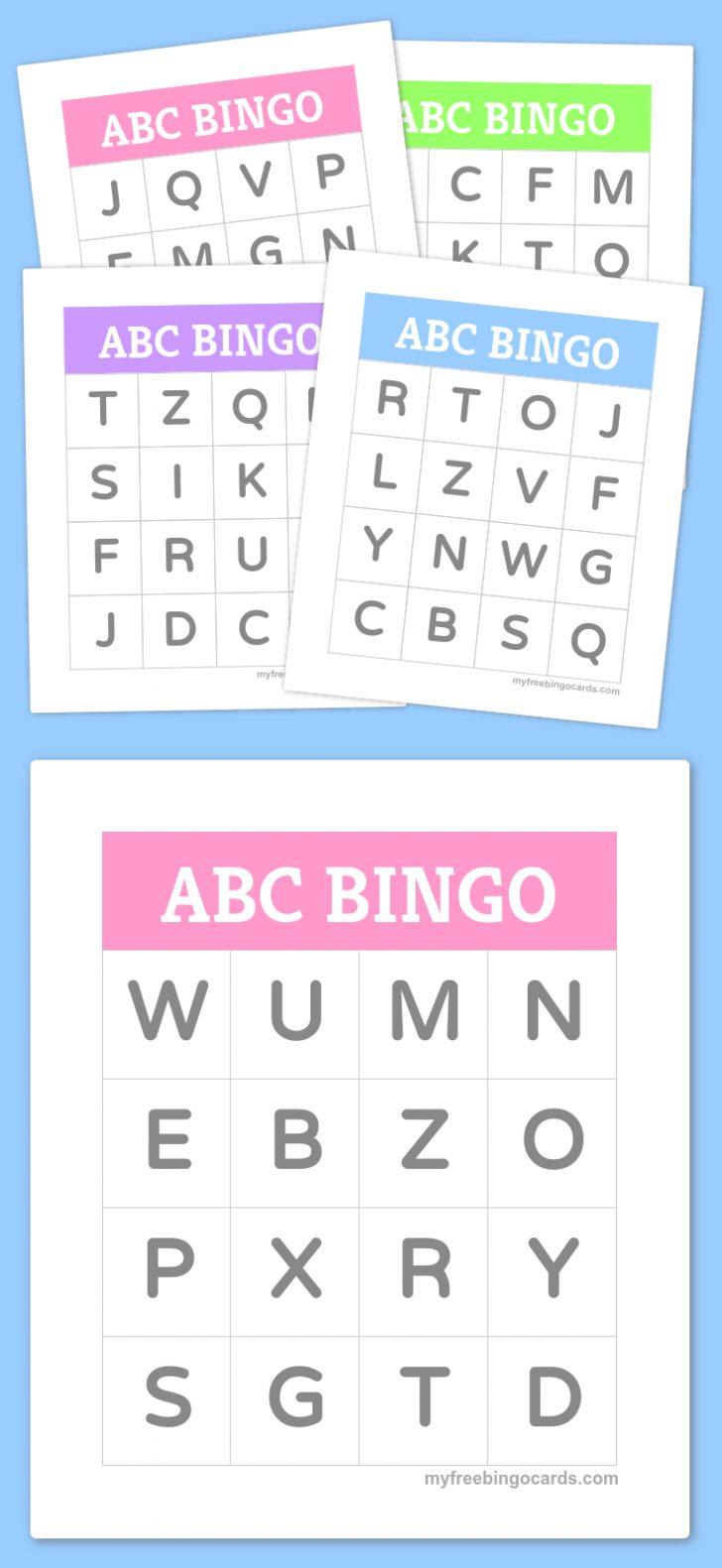 Printable Bingo Cards For Kindergarten