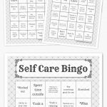 Free Printable Bingo Cards | Coping Skills, Self Care, Self