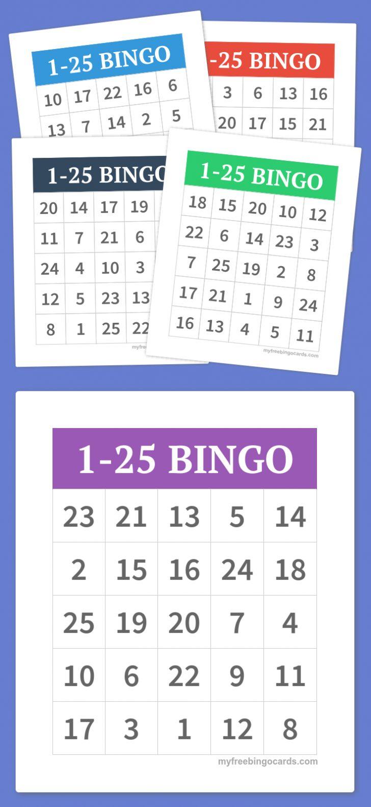 Free Kids Printable Bingo Cards