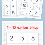 Free Printable Bingo Cards   Numbers Kindergarten, Numbers