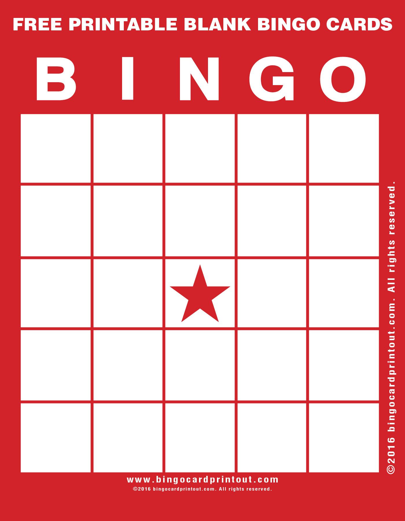 Free Printable Blank Bingo Cards - Bingocardprintout