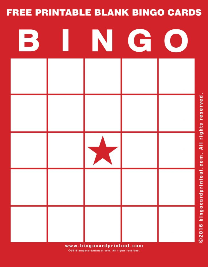 Bingo Cards Printable Free Blank