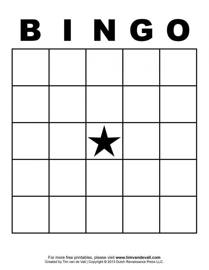 Free Blank Bingo Card Templates Printable