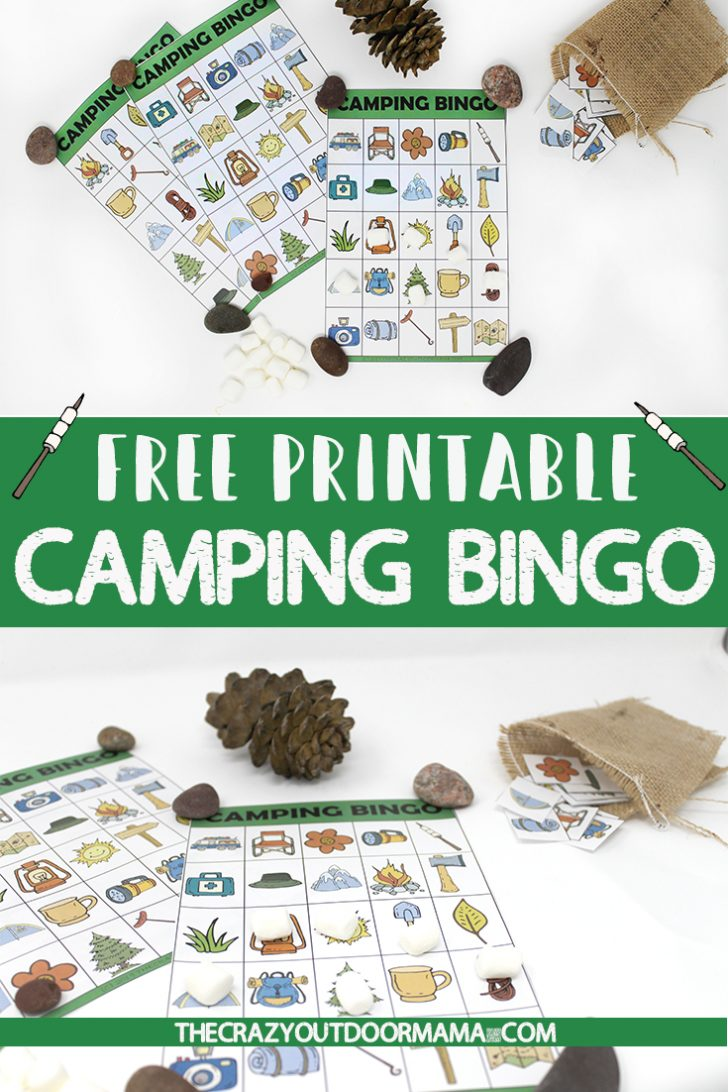 Printable Camping Bingo Cards