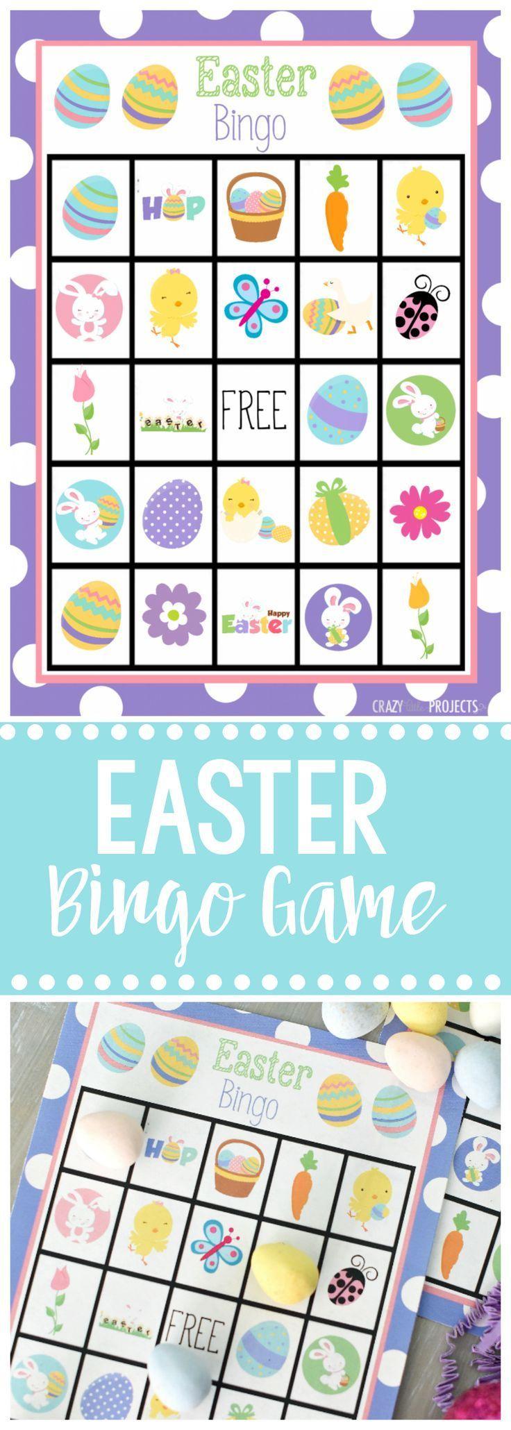 Free Printable Easter Bingo Game   Handvaardigheid Groep 3/4
