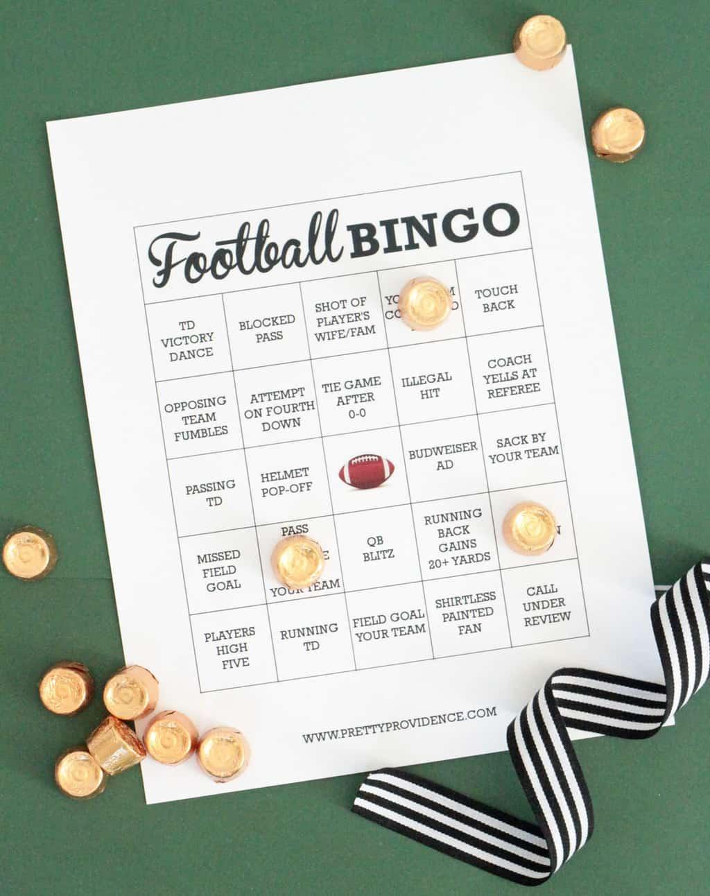 Free Printable Football Bingo Cards - Pretty Providence