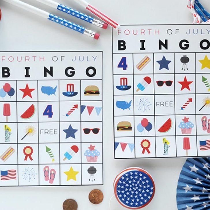 4th of July Bingo Cards Printable