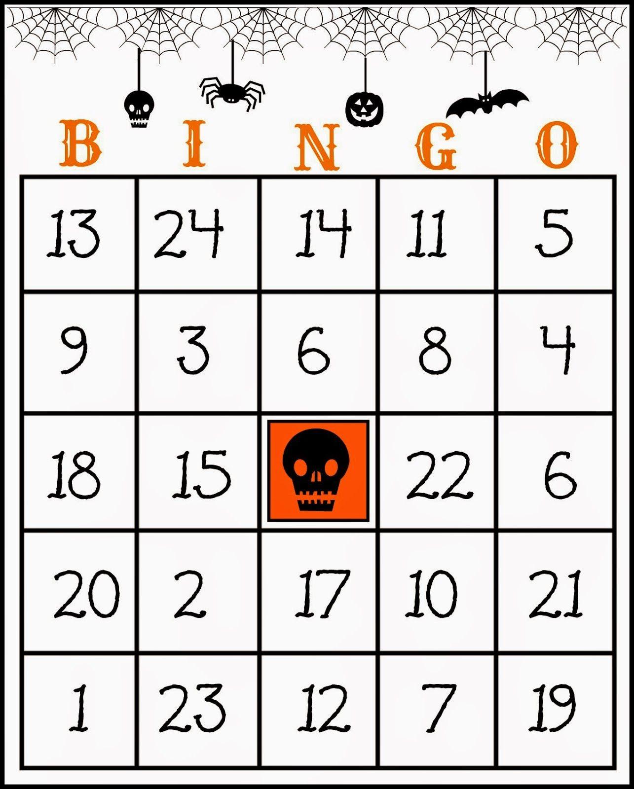 Free Printable Halloween Bingo Game | Halloween Bingo Game