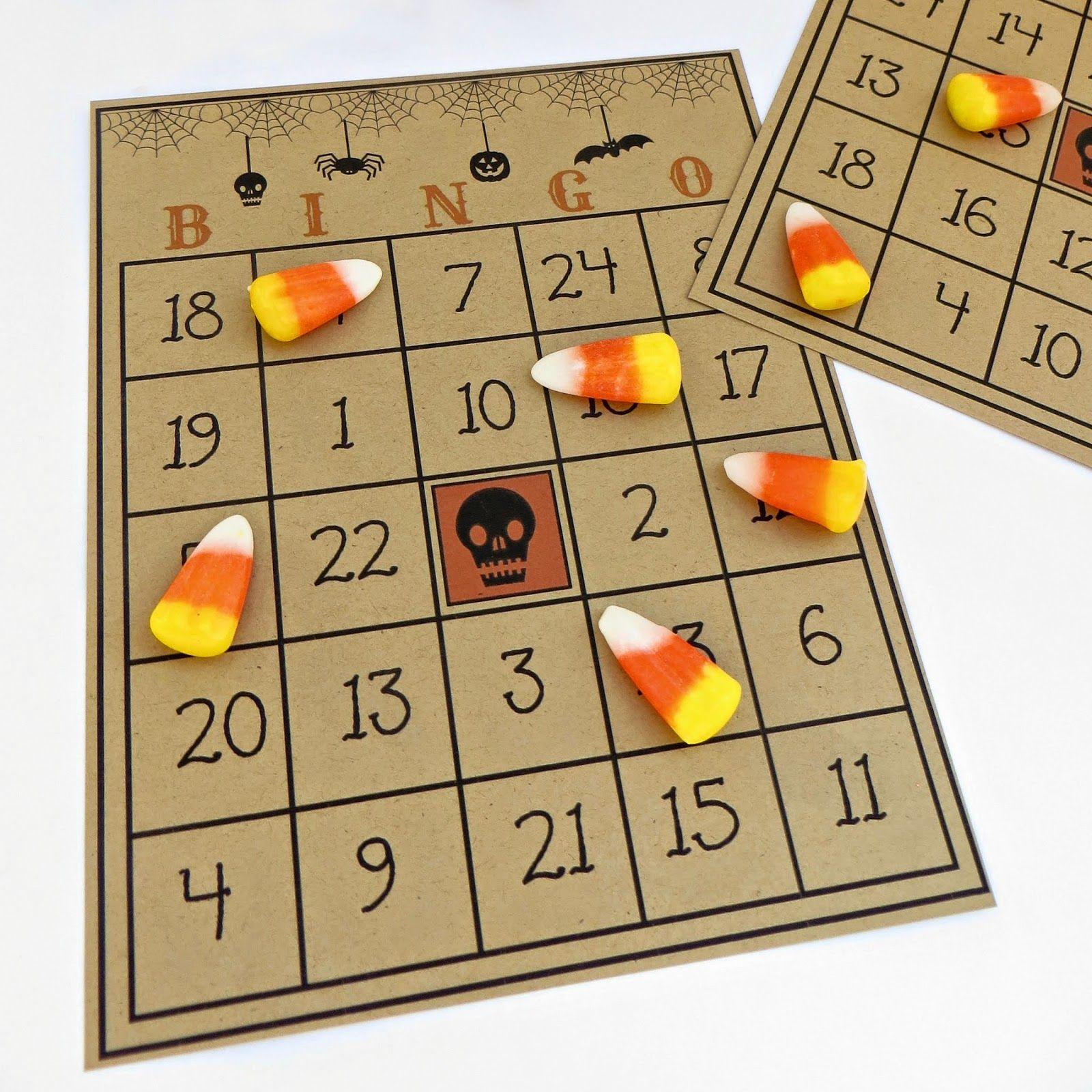 Free Printable Halloween Bingo Game | Halloween Bingo