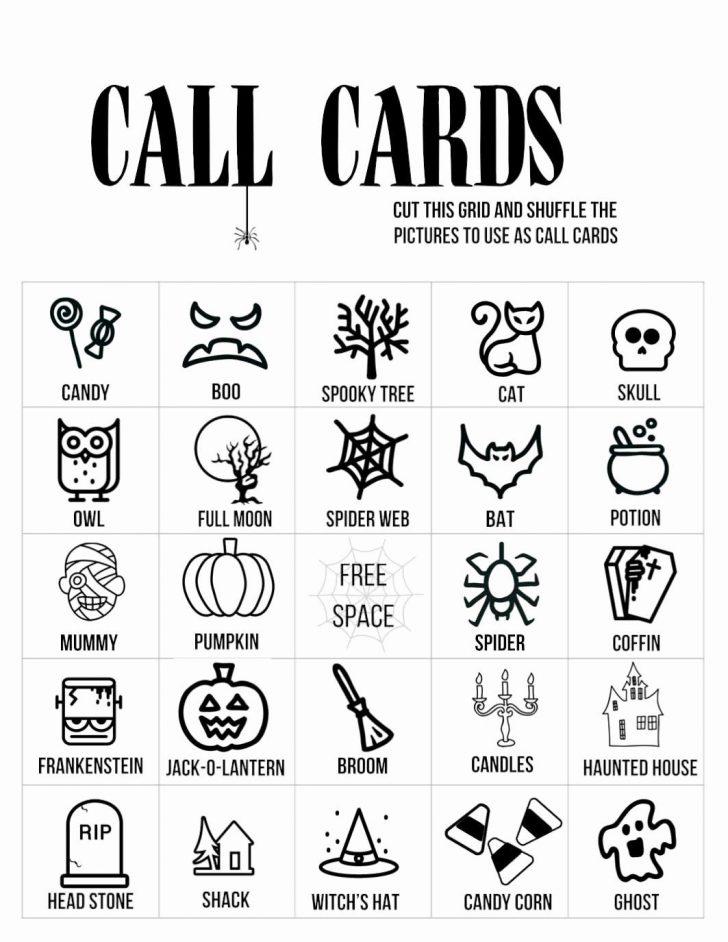 Free Printable Blank Halloween Bingo Cards