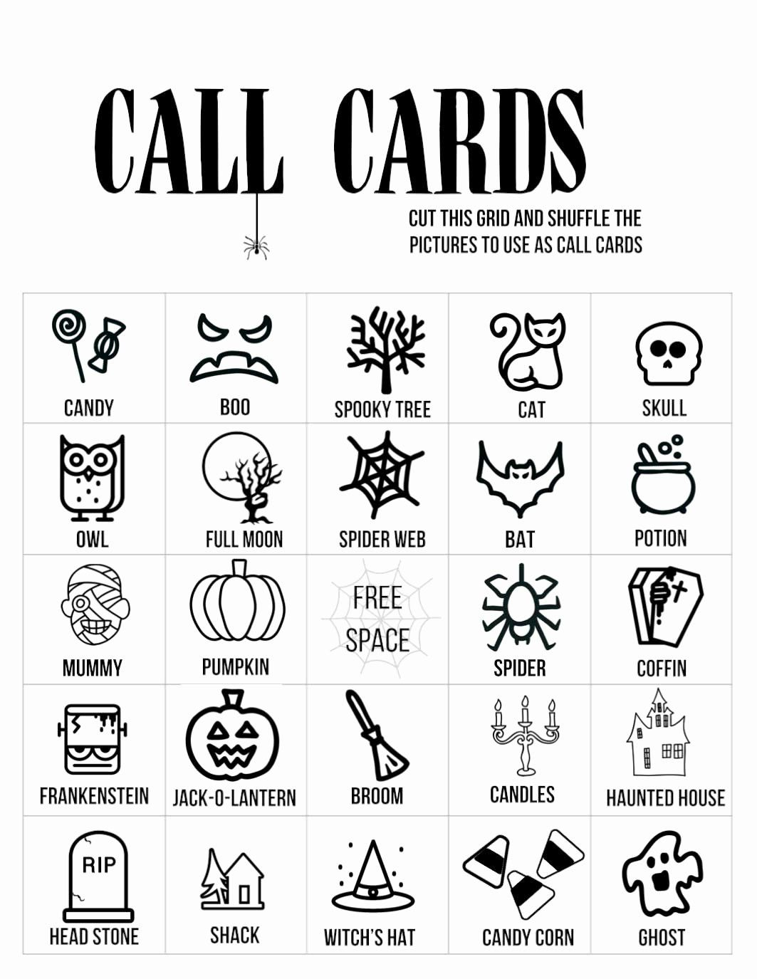 Free Printable Halloween Cards Inspirational Auto Bingo