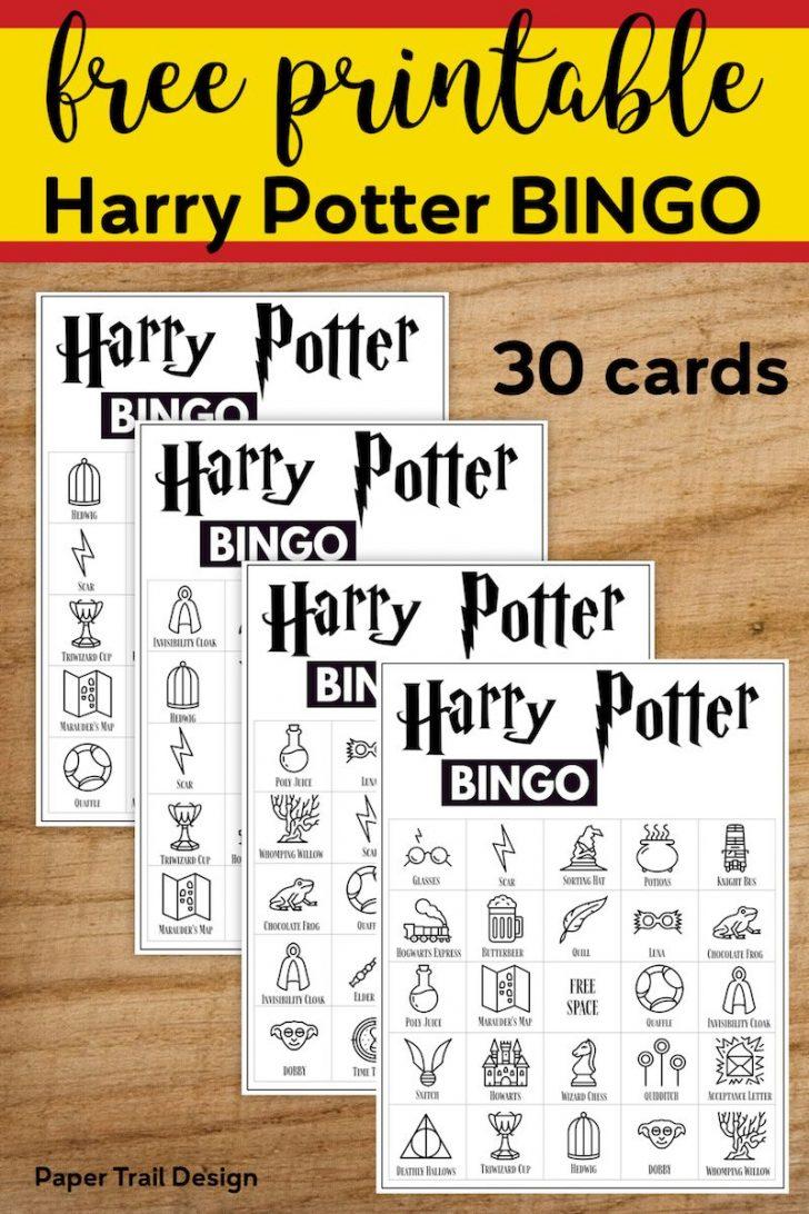 Free Printable Harry Potter Bingo Cards