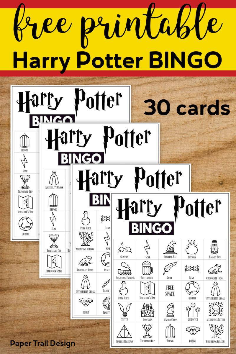 Free Printable Harry Potter Bingo Game | Harry Potter