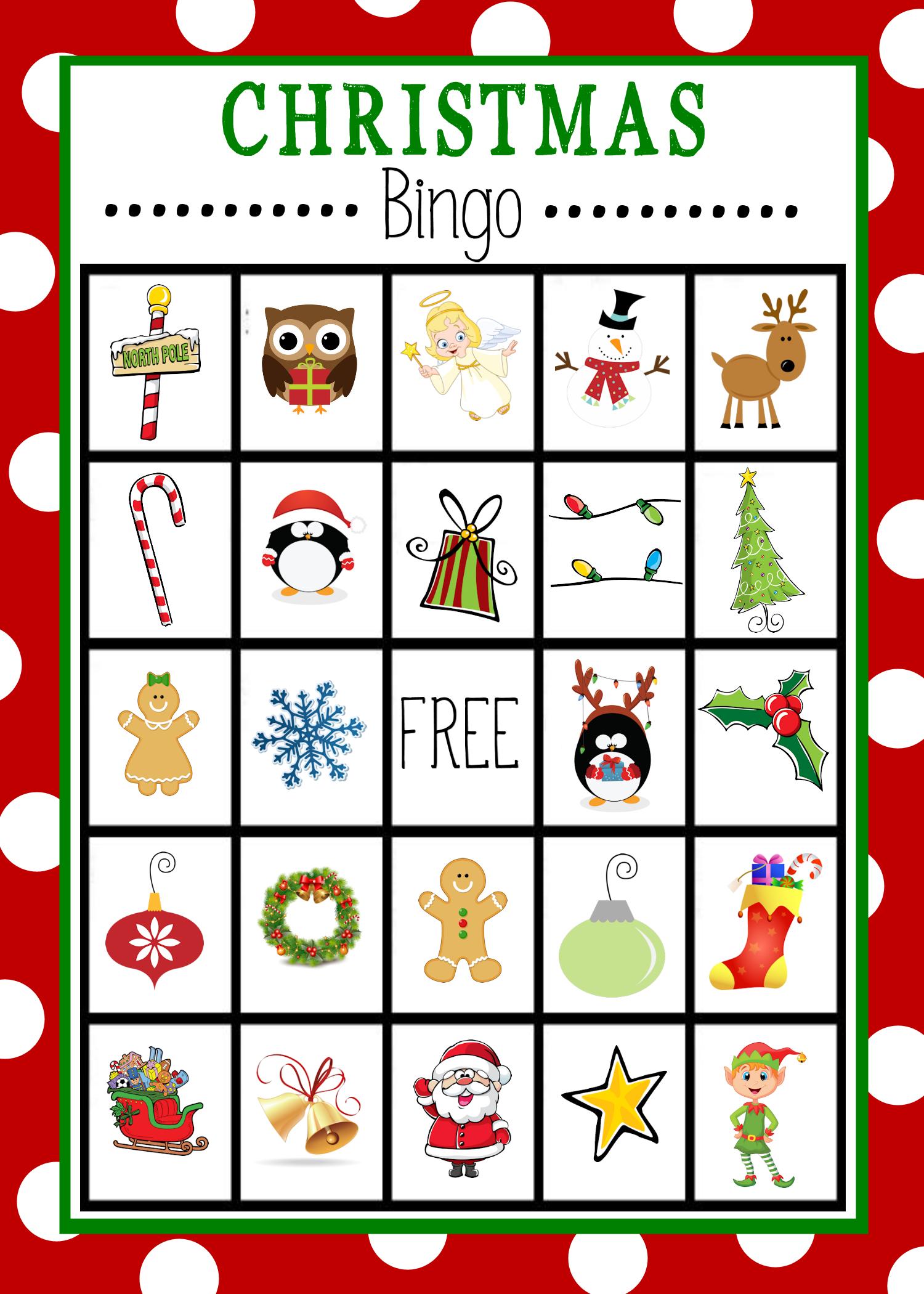 Free Printable Kids Christmas Bingo Game   Jul, Fest Og
