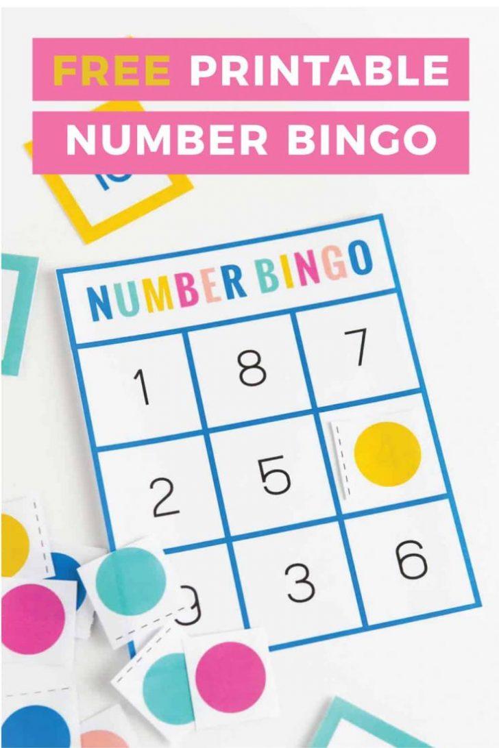 Free Printable Number Bingo Cards 1-10