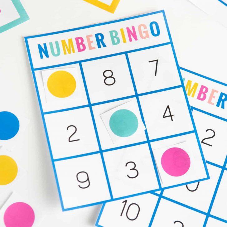 Numbers Bingo Printable Cards