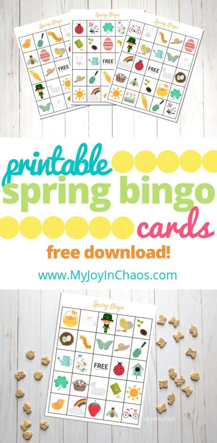 Free Printable Bingo Cards For Spring