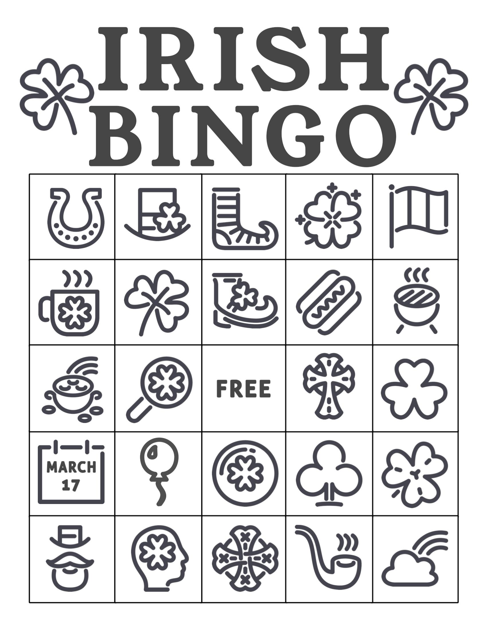 Free Printable St. Patrick's Day Bingo Cards - Paper Trail