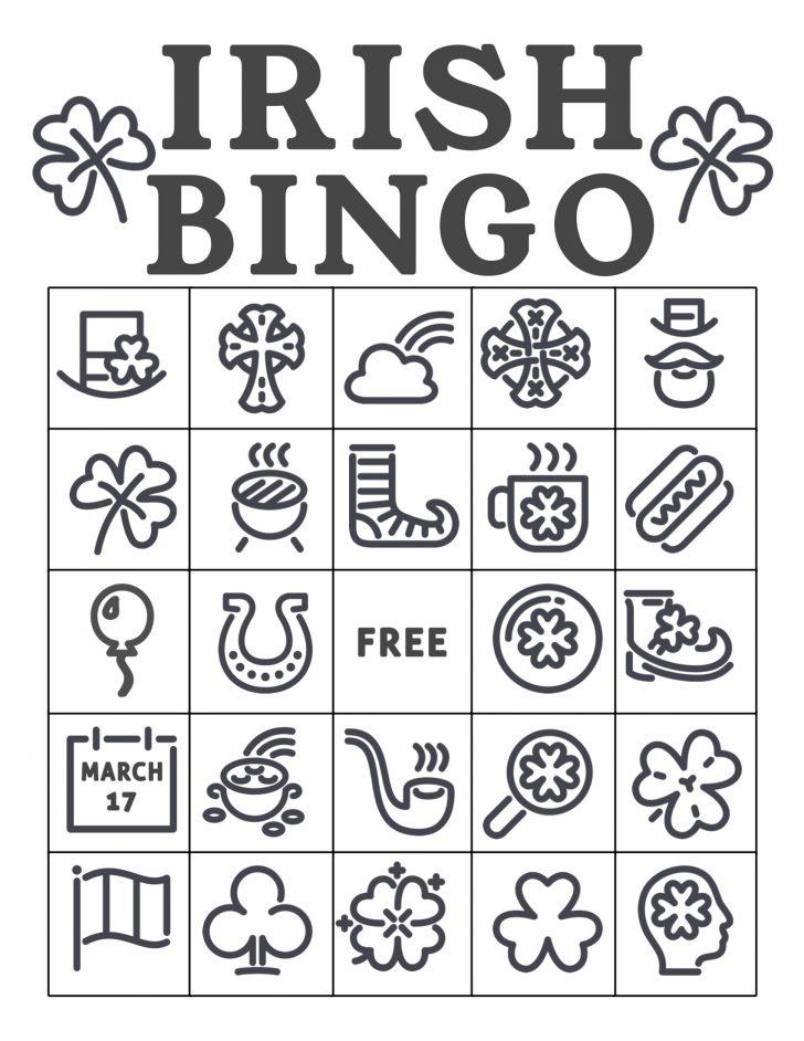 Printable Shamrock Bingo Cards