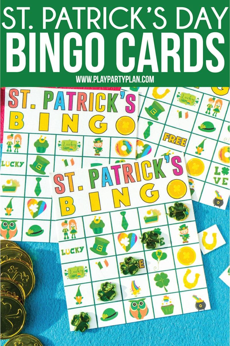 Free Printable St. Patrick's Day Bingo Cards - Play Party Plan