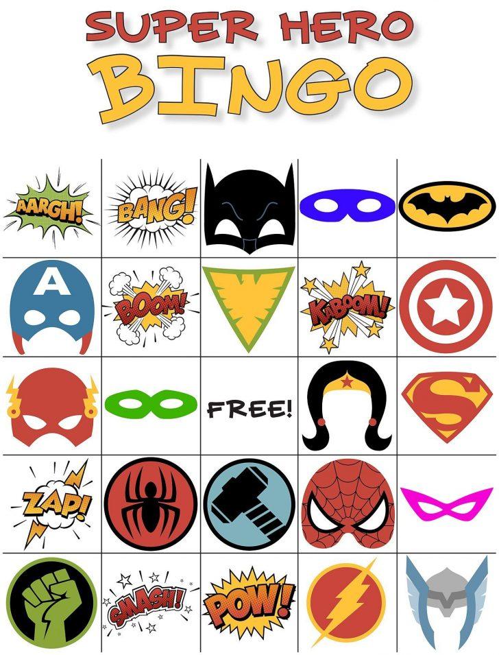 Printable Superhero Baby Shower Bingo Cards