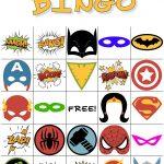 Free Printable Super Hero Bingo Party   Superheld Feestje