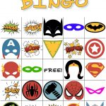 Free Printable Super Hero Bingo Party   Superheld Feestje
