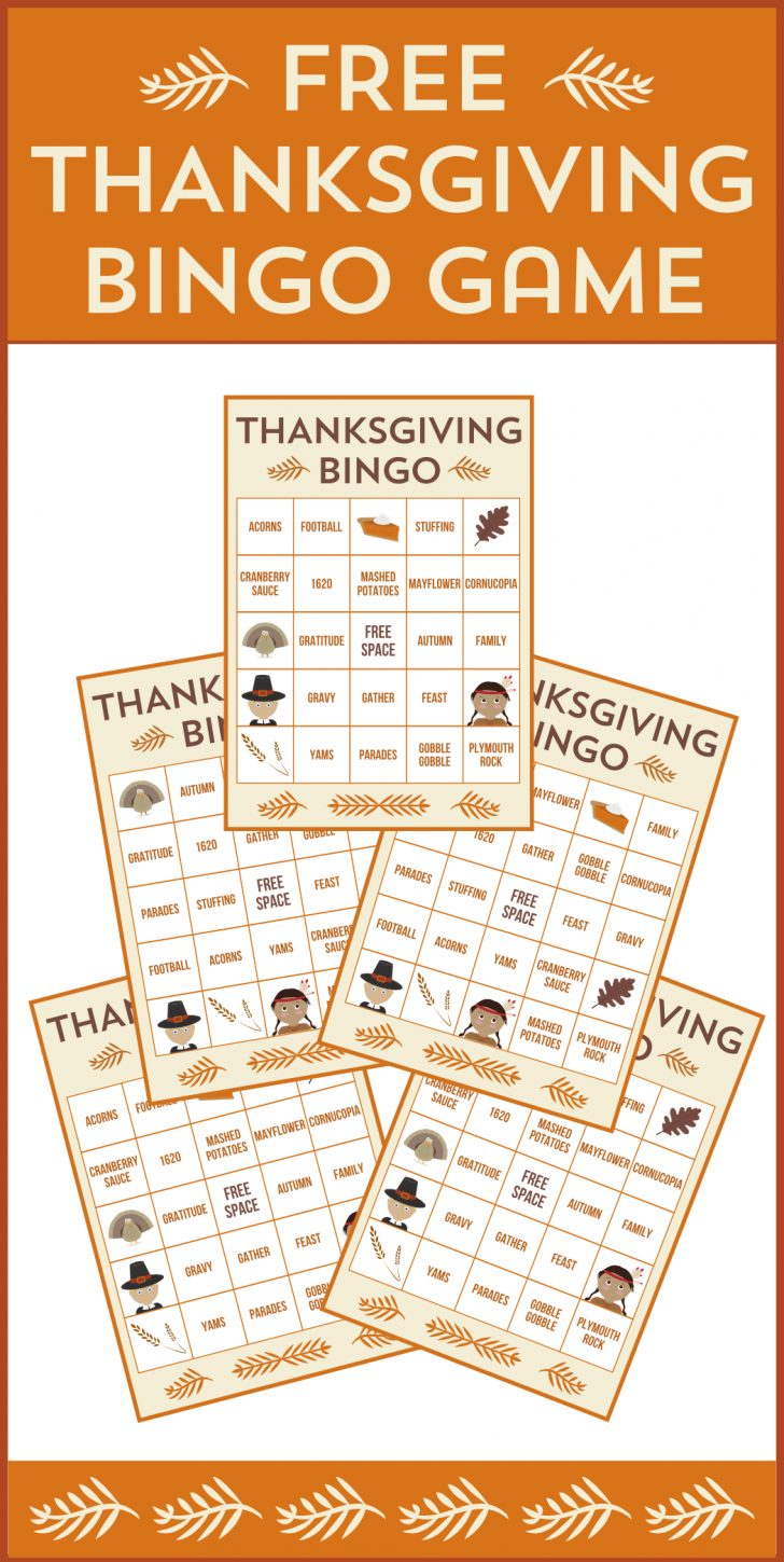 Free Printable Bingo Cards With Pictures Thanksgiving