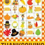 Free Printable Thanksgiving Bingo Cards. This Thanksgiving