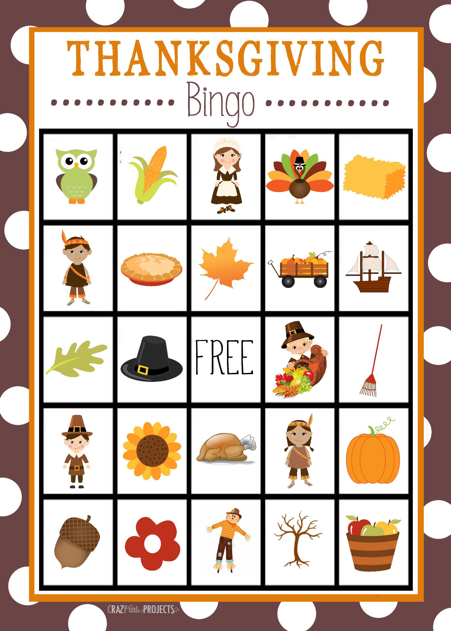 Free Printable Thanksgiving Bingo Game   Christmas Bingo