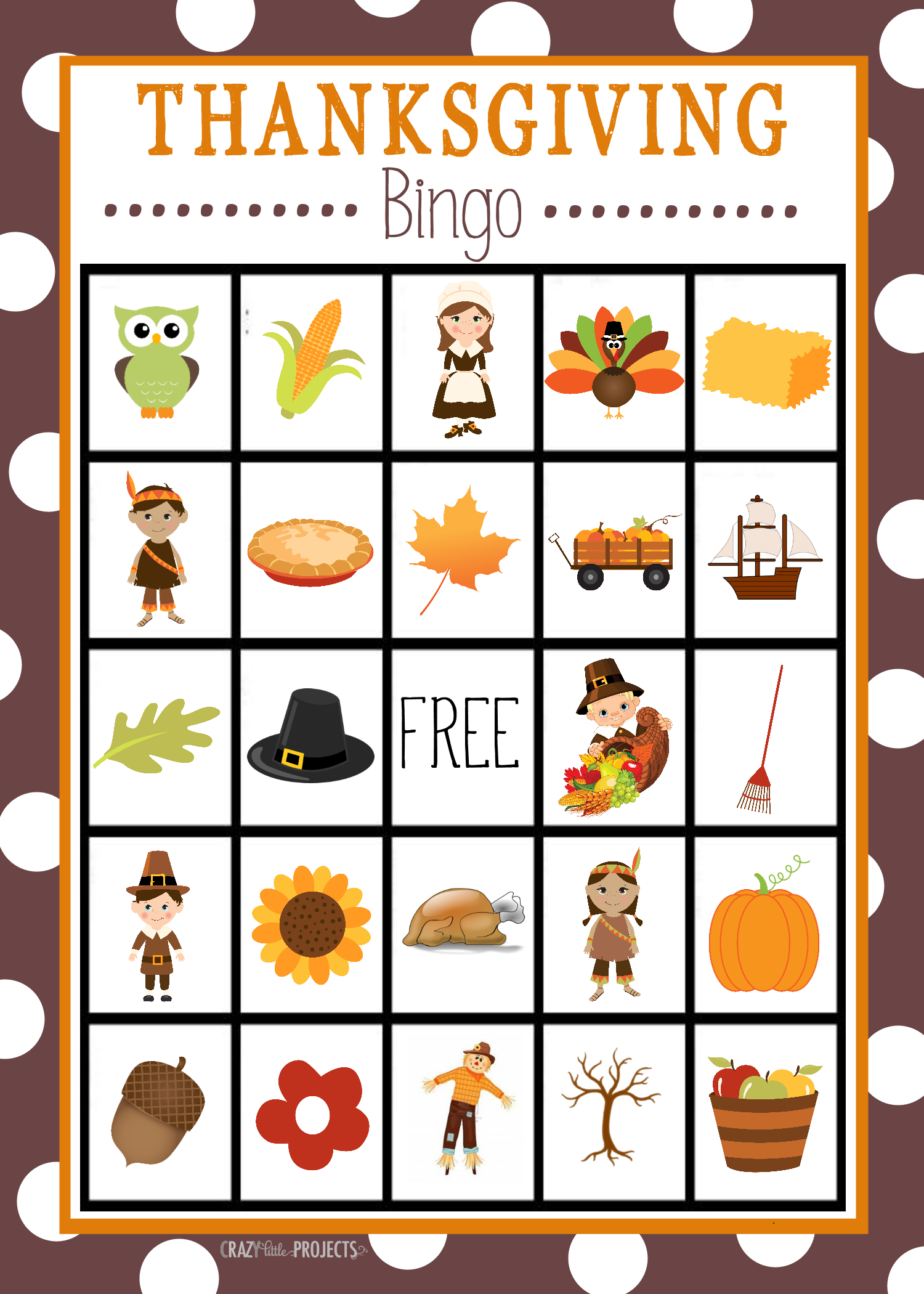 Free Printable Thanksgiving Bingo Game | Christmas Bingo