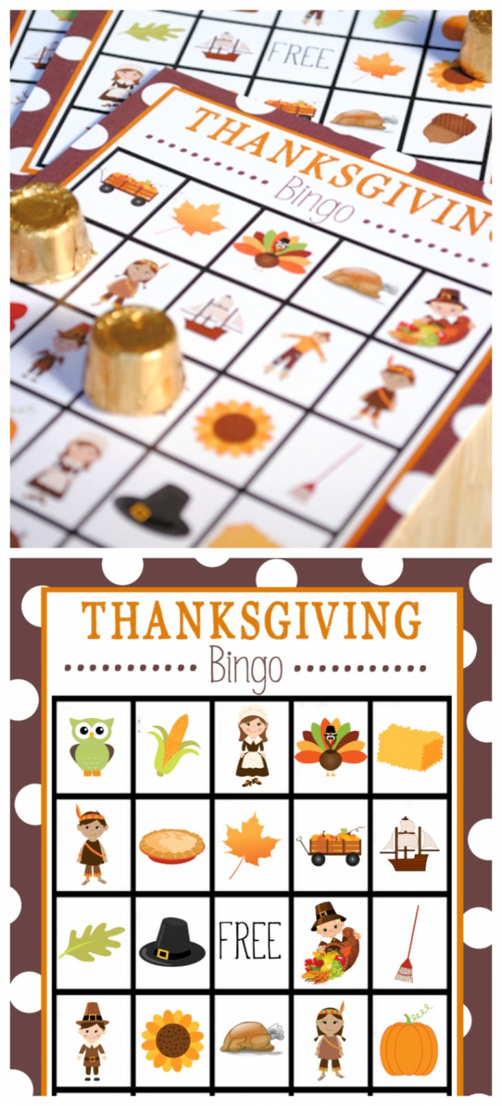 Printable Thanksgiving Picture Bingo Cards