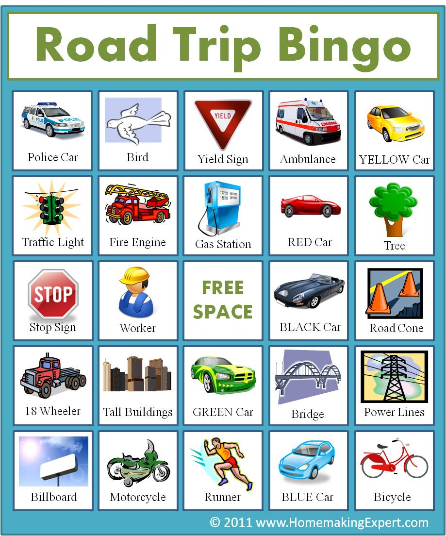 Free: Printable Travel Bingo Cards For Kids | Frugal York County