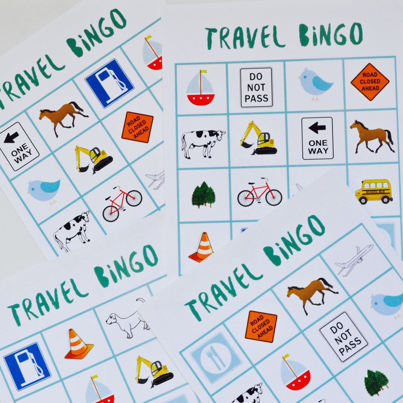 Free Printable Travel Bingo Game - Vakantie