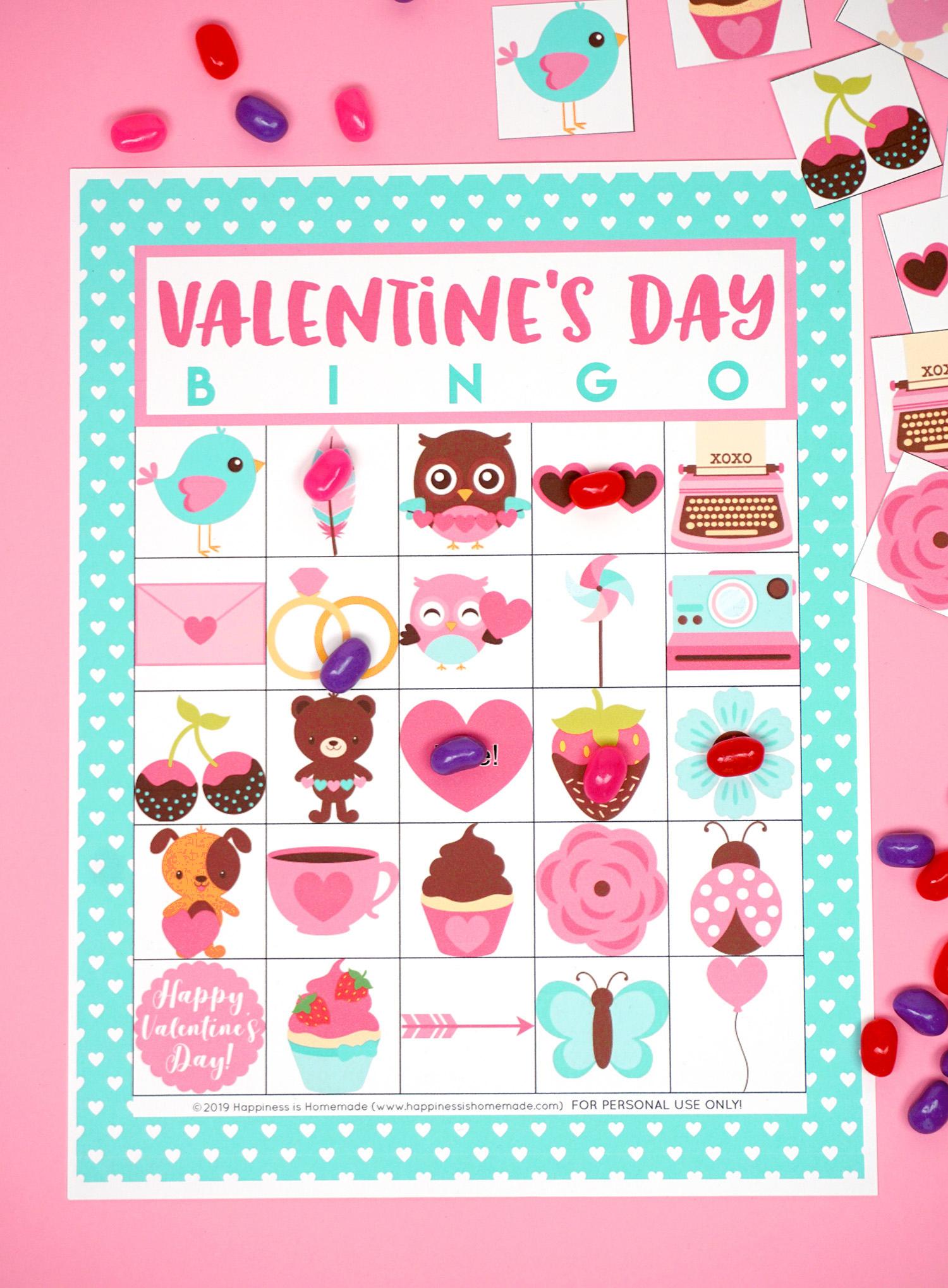 Free Printable Valentine Bingo - Happiness Is Homemade