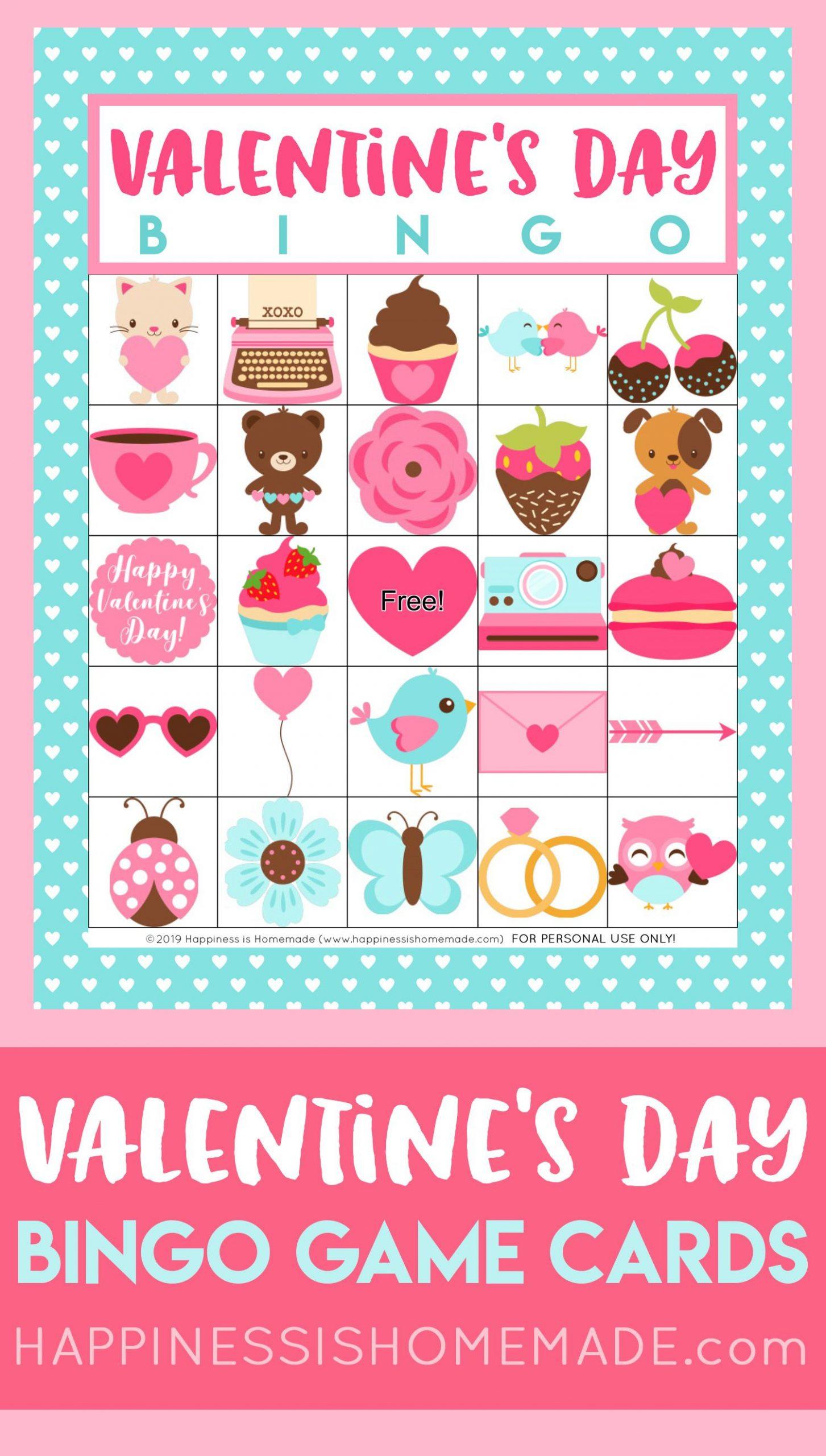Free Printable Valentine's Day Bingo Cards - Happiness Is