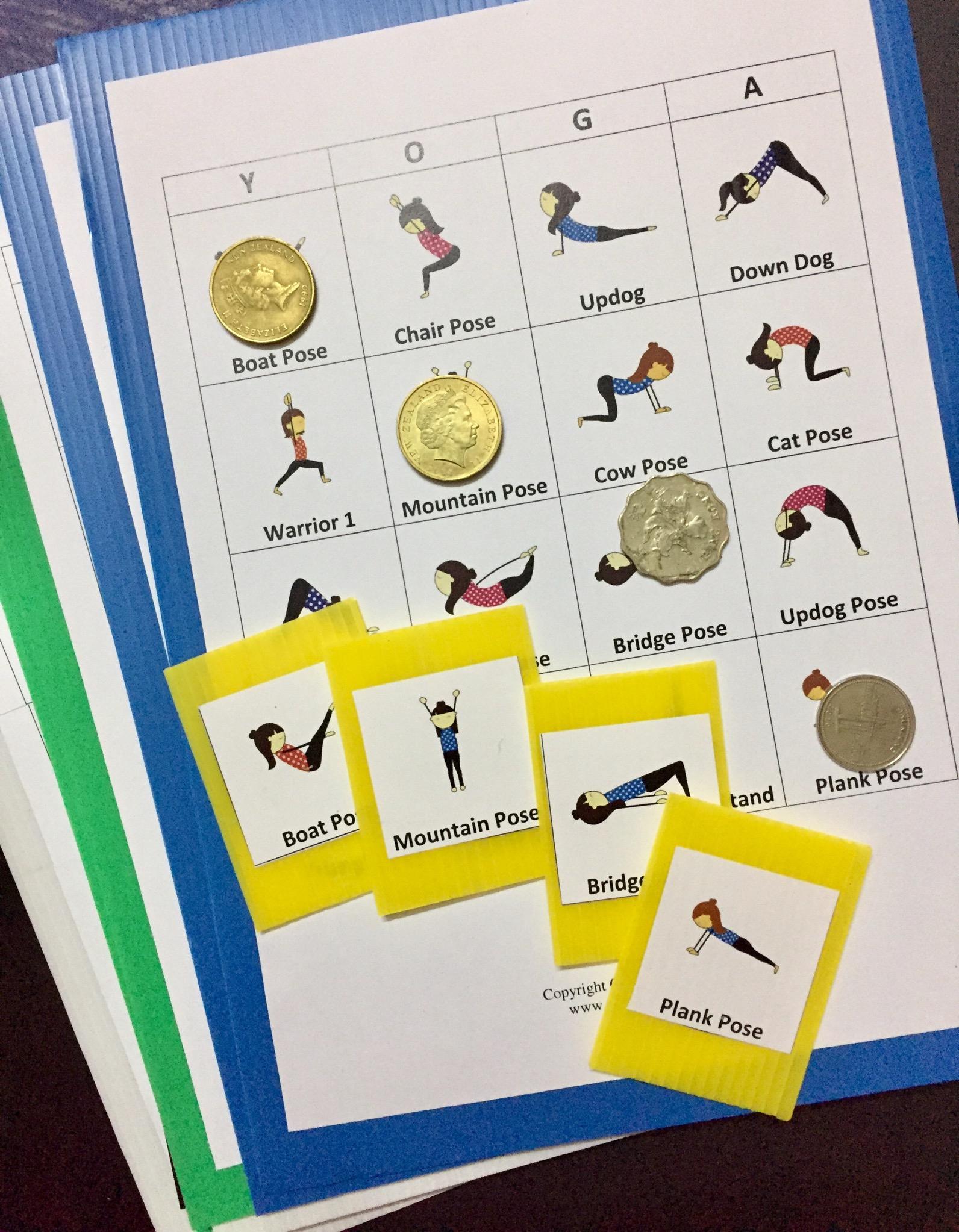 Free Yoga Pose Bingo Cards - Go Go Yoga For Kids