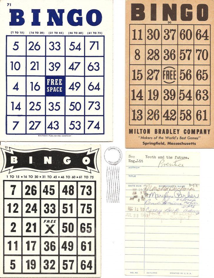 Free Printable Classic Number Bingo Cards