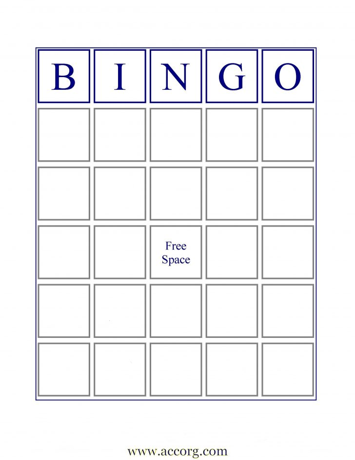 Bingo Card Blank Printable PDF